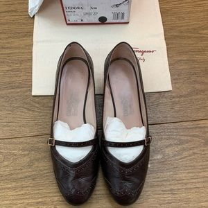 Menswear inspired brown leather loafers